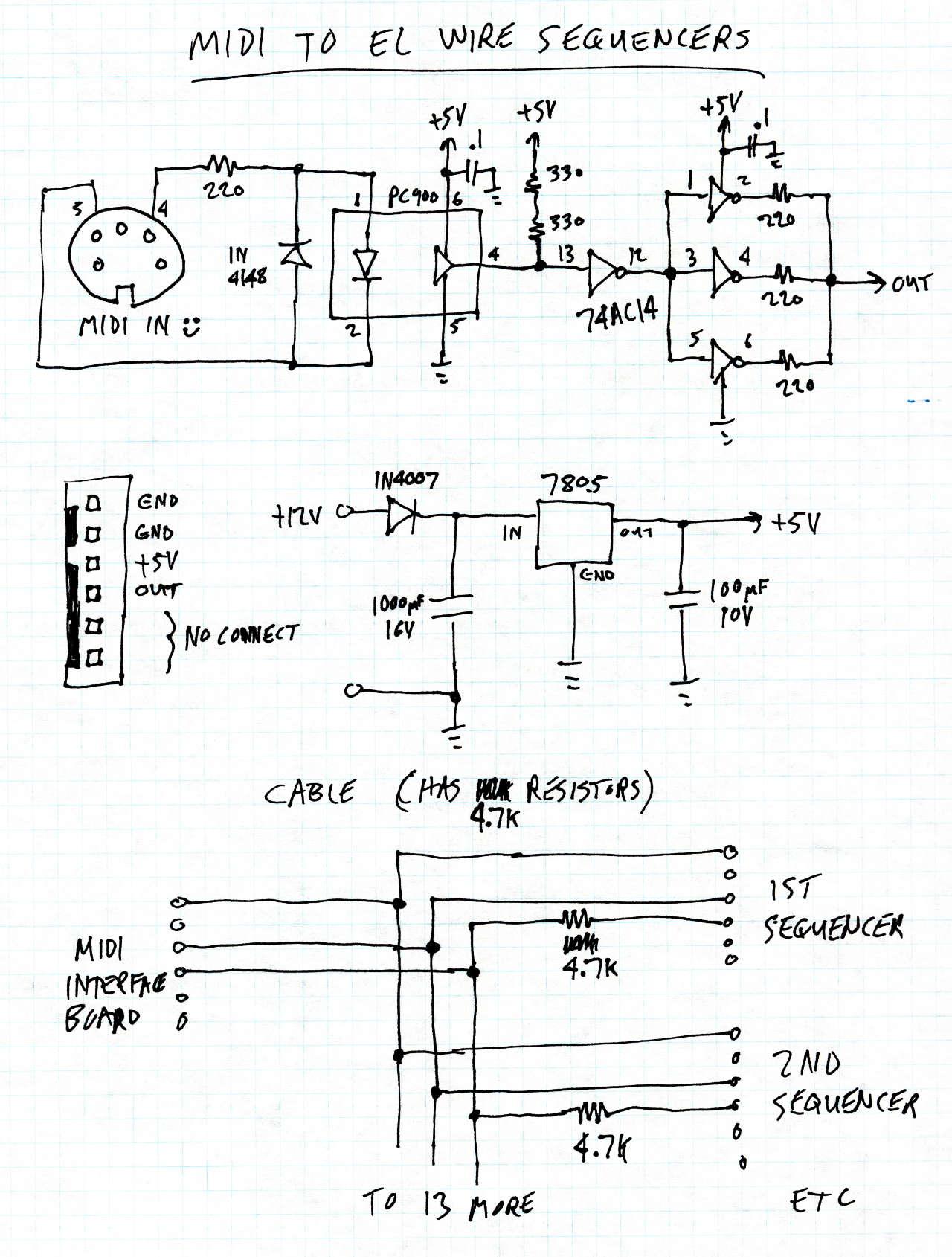 el wire midi control dorkbotpdx rh dorkbotpdx org el wire inverter schematic 12v el wire inverter schematic